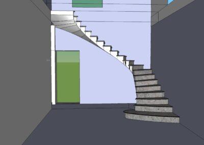 Projet d'un escalier en pierre de bourgogne