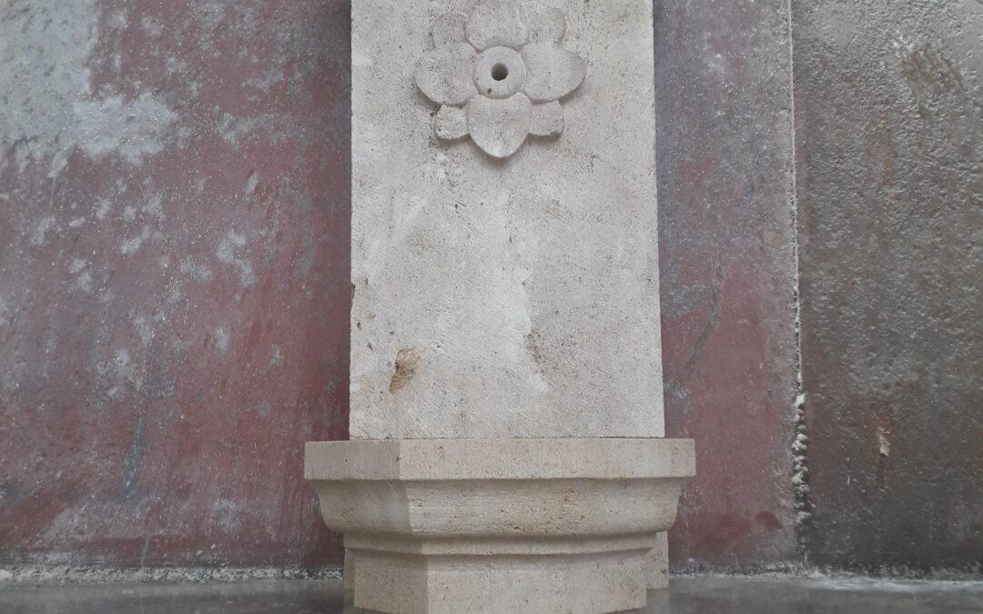 Fontaine avec dosseret